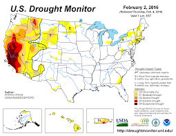 california drought map january 2016 drought january 2016 state of the climate national centers