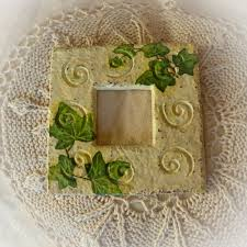 decoromana handmade shabby chic frame with ivy
