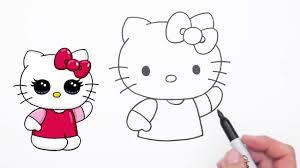 draw cute sanrio kitty step step easy