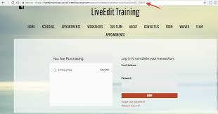 how to link to product checkout liveedit mindbody support