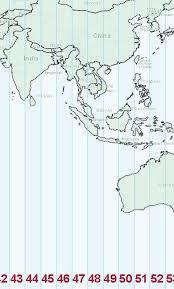 utm zone map utm and peninsular malaysia