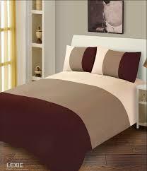 chocolate brown u0026 cream duvet cover microfibre bedding