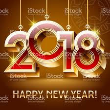 new year toys vector happy new year greeting card with golden toys 2018 stock