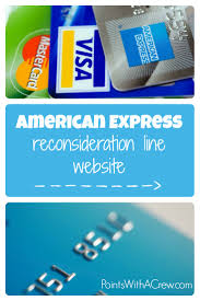 american express reconsideration line website points with a crew