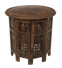 Small Round Accent Table by Amazon Com Cotton Craft Jaipur Solid Wood Hand Carved Accent