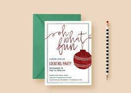 cocktail party invitation oh what fun holiday party invitations letter loft