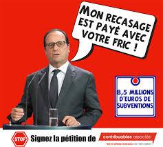 Vire Meme - pétition même viré hollande pompe encore nos impôts association