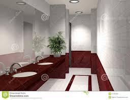 badezimmer 3d modernes badezimmer 3d stock abbildung bild spiegel 12463609