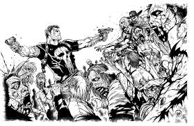 creepy coloring pages walking dead by mattjamescomicarts tv shows coloring pages for