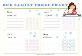 printable family chore chart template business letter template