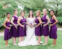 purple dress bridesmaid infinity dress etsy