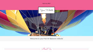 air balloons website templates godaddy