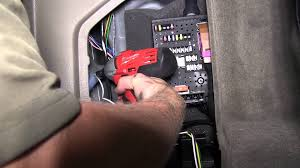 installation of a trailer wiring harness on a 2007 volvo xc70