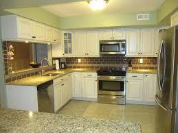 yellow and white mosaic tile backsplash stunning home design