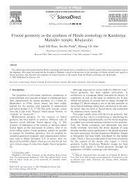 Hindu Temple Floor Plan by Fractal Geometry As The Synthesis Of Hindu Cosmology In Kandariya