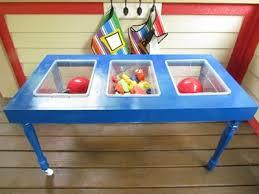 how to build a sensory table diy a homemade sensory table and tinker table teach preschool