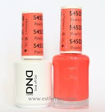 daisy gel polish peachy orange 545 esther u0027s nail center