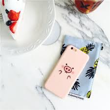 new stylish cute cartoon piggy pig print candy soft pink tpu