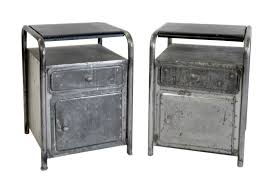 Metal Nightstands With Drawers Nightstands Wood And Iron Nightstand Metal Bedside Table With