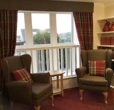 Wing Chairs For Living Room by Tartan Curtains And Panaz Highland Pelmet And Wing Chairs In A