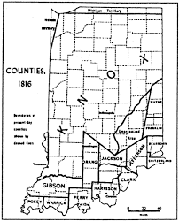 Map Of Illinois And Indiana by Lincoln Boyhood National Memorial Historic Resource Study Table