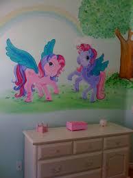 pink romantic playful murals just for girls hand painted girls murals