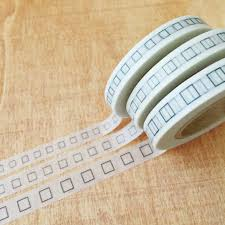 perfect washi tape for planner 3mm square bullet 7mm x 15m 3 7