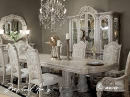 Traditional Dining Room Tables Silver Dining Room Sets Of Goodly Monte Carlo Silver Pearl Ii