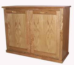 tips tilt out trash bin wooden garbage can cabinet trash pull out