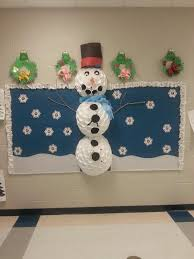 frosty snowman winter bulletin board