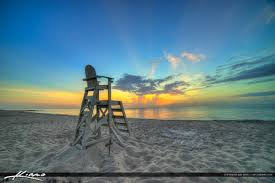 lifeguard chair at the beach singer island florida