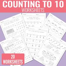 counting to 10 worksheets kindergarten math worksheets easy