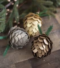 pinecone paper ornament set winter decor joann