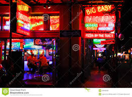 Bourbon Street New Orleans Map by New Orleans Bourbon Street Food And Drink Editorial Stock Image