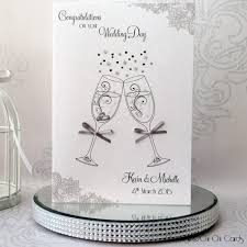 luxurious wedding card a5 wedding glasses toast