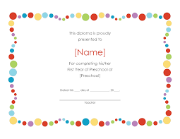 preschool graduation diploma preschool graduation certificate template free kindergarten