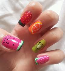super adorable multicolor fimo fruit nail art youtube 30 of the