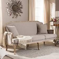 amazon com baxton studio constanza classic antiqued french sofa