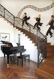 Staircase Decorating Ideas Wall Stairs Wall Decoration Ideas Staircase Contemporary With Stair
