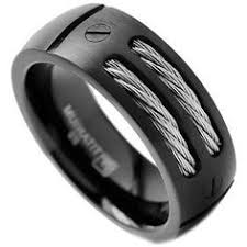 titanium mens wedding rings 8mm men s black titanium ring wedding band with stainless steel