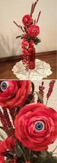 Garden Halloween Decorations Inspiration Creepy Eyeball Flowers Blue Eyes No Specified