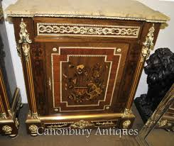 french empire cabinet credenza marquetry inlay cabinets