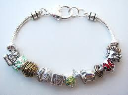 bead bracelet charm images Pandora inspired lucky horse shoe charm bead bracelet elephant JPG