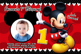 mickey mouse birthday invitations mickey mouse photo birthday invitations mickey mouse photo birthday