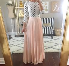 elegant pastel maxi polka dot black and white light pink