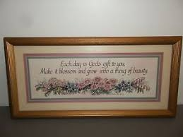 home interior framed print by charles f humphrey flowers w saying