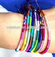 hand woven bracelet images Diy colorful cotton string hand woven bracelet rainbow cotton cord jpg