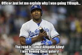 Dodgers Suck Meme - los angeles dodger yasiel puig gets arrested for reckless driving