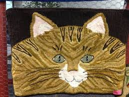 70 best rug hooking cats images on pinterest rag rugs punch