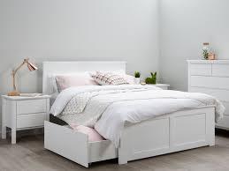 White Storage Bed Double Beds Storage White Modern B2c Furniture